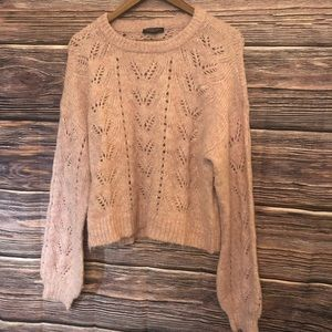 American Eagle Cropped Fit pink sweater